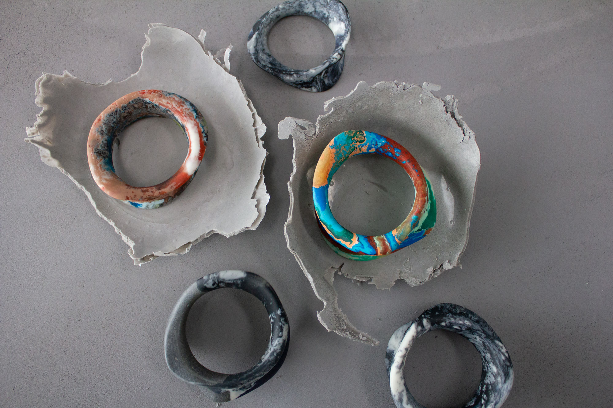 Sculptural Bangles by Clan Collective